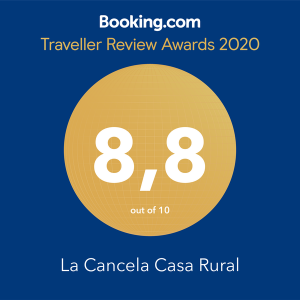 sello-booking-casa-rural-la-cancela